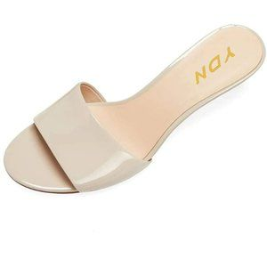 YDN Comfy Kitten Low Heel Mules Slip on Clog